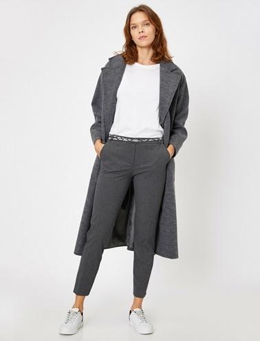 Koton Cep Detaylı Pantolon Gri
